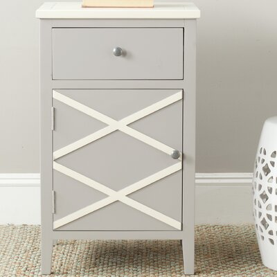 Cherell End Table Color: Grey