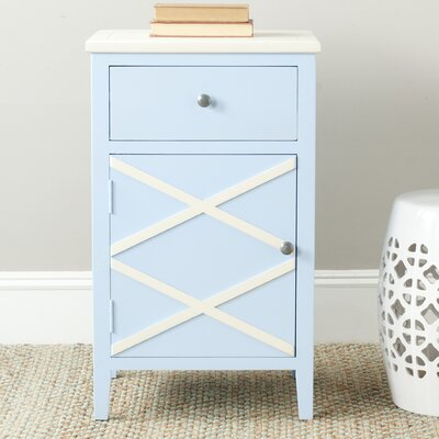 Cherell End Table Color: Light Blue