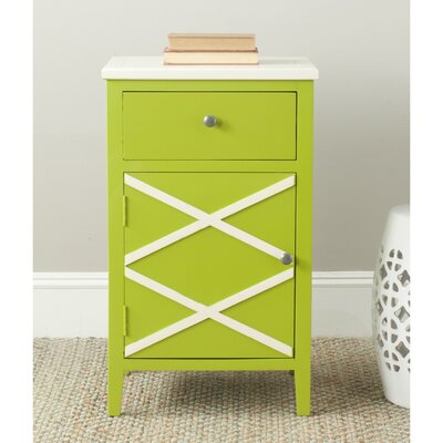 Cherell End Table Color: Lime Green