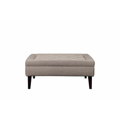 Isolde Ottoman Upholstery: Brown