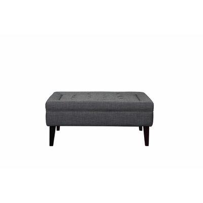 Isolde Ottoman Upholstery: Grey