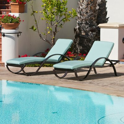 Northridge Chaise Lounge with Cushion Fabric: Bliss Blue