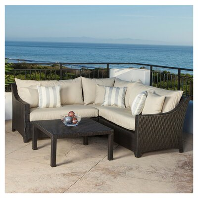 Northridge 4 Piece Sectional Seating Group with Cushions Fabric: Slate