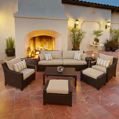 Northridge 8 Piece Deep Seating Group with Cushions Fabric: Slate