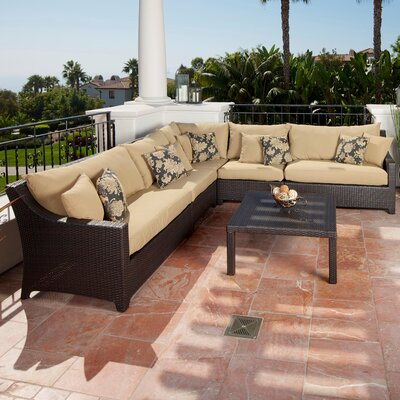 Northridge 6 Piece Sectional Seating Group with Cushions Fabric: Delano Beige