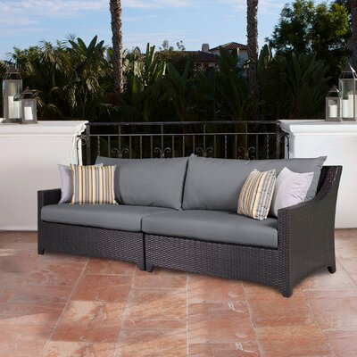 Northridge Patio 2 Piece Loveseat Fabric: Charcoal Gray