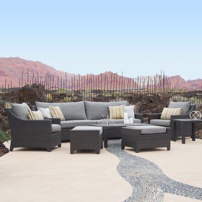 Northridge 8 Piece Deep Seating Group with Cushions Fabric: Charcoal Gray