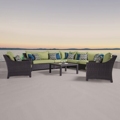 Northridge 9 Piece Sectional Seating Group with Cushions Fabric: Gingko Green