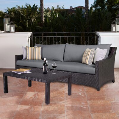 Northridge 2 Piece Deep Seating Group with Cushion Fabric: Charcoal Gray