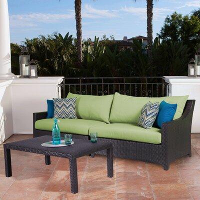 Northridge 2 Piece Deep Seating Group with Cushion Fabric: Gingko Green