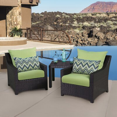 Northridge 3 Piece Deep Seating Group with Cushion Fabric: Charcoal Gray