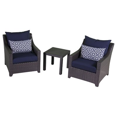 Northridge 3 Piece Deep Seating Group with Cushion Fabric: Navy