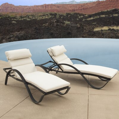 Northridge Chaise Lounge with Cushion Fabric: Moroccan Cream