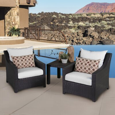 Northridge 3 Piece Deep Seating Group with Cushion Fabric: Moroccan Cream
