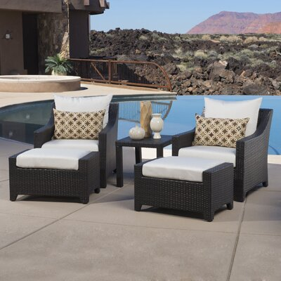 Northridge 5 Piece Deep Seating Group with Cushions Fabric: Moroccan Cream