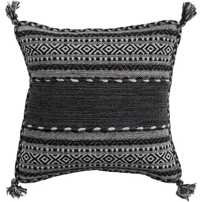 Wrightsville Cotton Throw Pillow Size: 20 H x 20 W x 4 D, Color: Charcoal
