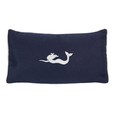 Embroidered Sunbrella Fabric Indoor/Outdoor Lumbar Pillow Color: Navy