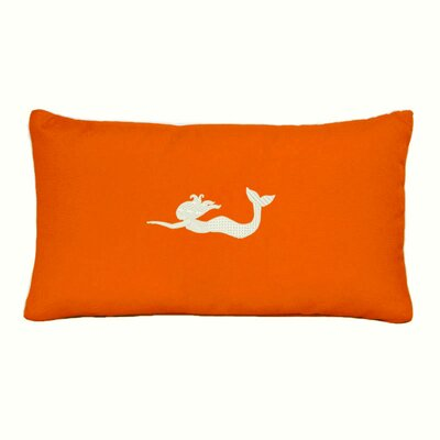 Greenock Embroidered Sunbrella Fabric Indoor/Outdoor Lumbar Pillow Color: Melon