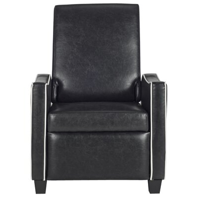 Kittinger Recliner Color: Black / White