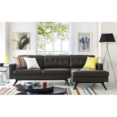Hazleton Sectional Orientation: Right Hand Facing, Upholstery: Brown