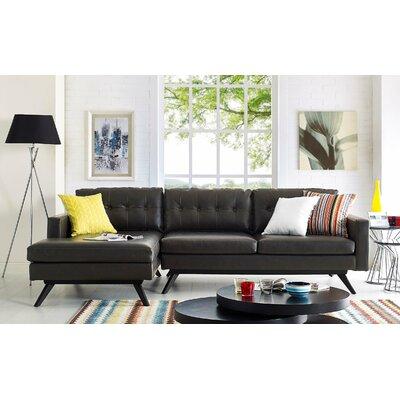 Hazleton Sectional Orientation: Left Hand Facing, Upholstery: Brown