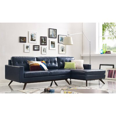 Hazleton Sectional Orientation: Right Hand Facing, Upholstery: Blue