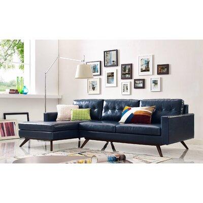 Hazleton Sectional Orientation: Left Hand Facing, Upholstery: Blue