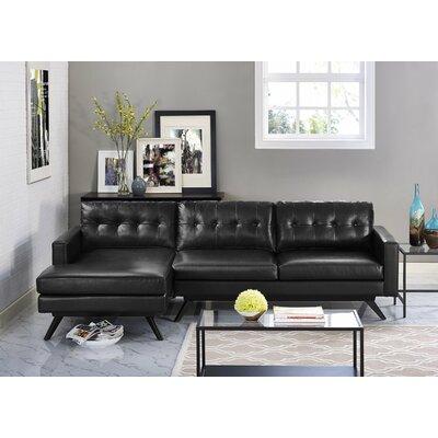 Hazleton Sectional Upholstery: Black, Orientation: Left Hand Facing