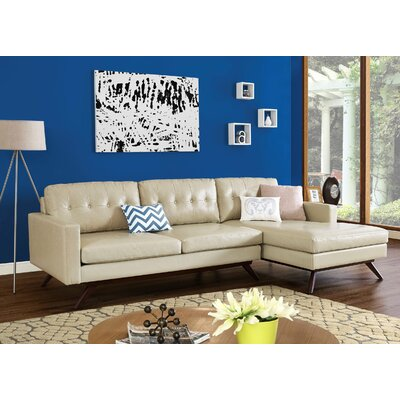 Hazleton Sectional Orientation: Right Hand Facing, Upholstery: Beige