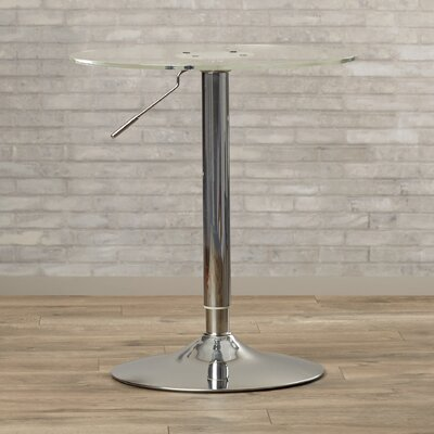 Serio Adjustable Height Pub Table Finish: Clear Acrylic