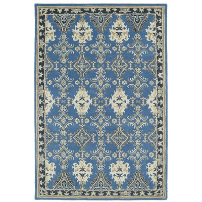 Curtiss Handmade Blue Area Rug Rug Size: Rectangle 5 x 79