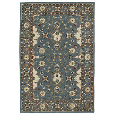Curtiss Handmade Teal Area Rug Rug Size: Rectangle 9 x 12