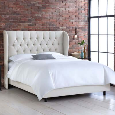 Tharptown Upholstered Panel Bed Size: California King, Upholstery: Talc