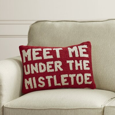 Maples Under The Mistletoe Hook Wool Lumbar Pillow