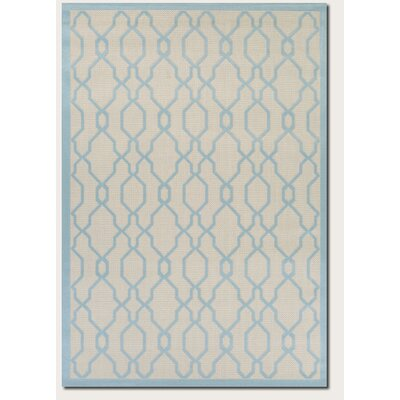 Arnot Cream/Sapphire Indoor/Outdoor Area Rug Rug Size: 4'11