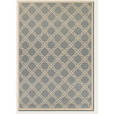 Arnot Slate/Cream Indoor/Outdoor Area Rug Rug Size: 311 x 55