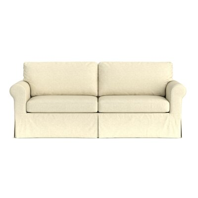 Greenside Replacement Sofa Slipcover Upholstery: Oatmeal Linen, Skirted: Yes