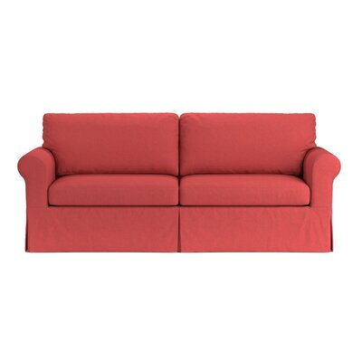 Greenside Replacement Sofa Slipcover Upholstery: Sunrise Red Linen, Skirted: Yes