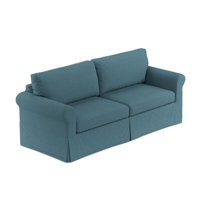 Greenside Replacement Sofa Slipcover Upholstery: Blue Linen, Skirted: No