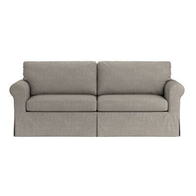 Greenside Replacement Sofa Slipcover Upholstery: Dove Gray Linen, Skirted: Yes