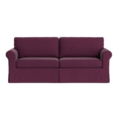 Greenside Replacement Sofa Slipcover Upholstery: Eggplant Purple Velvet, Skirted: Yes