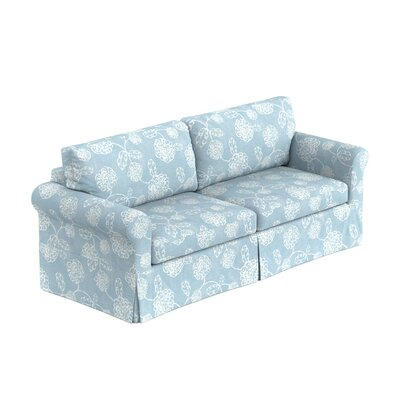 Greenside Replacement Sofa Slipcover Upholstery: Blue Floral, Skirted: No