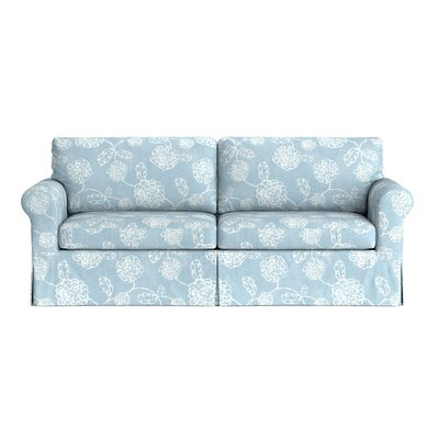 Greenside Replacement Sofa Slipcover Upholstery: Blue Floral, Skirted: Yes