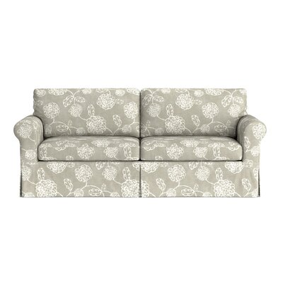 Greenside Replacement Sofa Slipcover Upholstery: Taupe Floral, Skirted: Yes