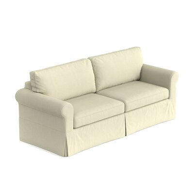 Greenside Replacement Sofa Slipcover Upholstery: Ecru White, Skirted: No
