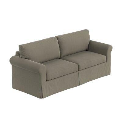 Greenside Replacement Sofa Slipcover Skirted: No, Upholstery: Taupe Gray Velvet