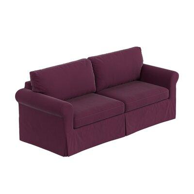 Greenside Replacement Sofa Slipcover Upholstery: Eggplant Purple Velvet, Skirted: No