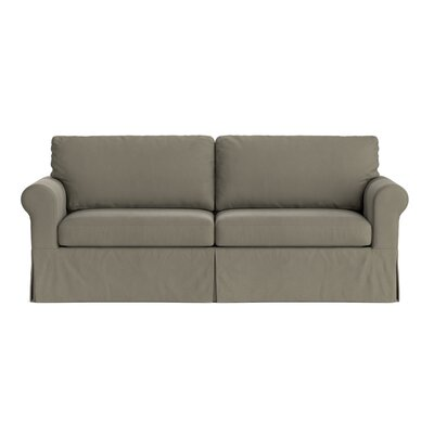 Greenside Replacement Sofa Slipcover Skirted: No, Upholstery: Taupe Gray Velvet