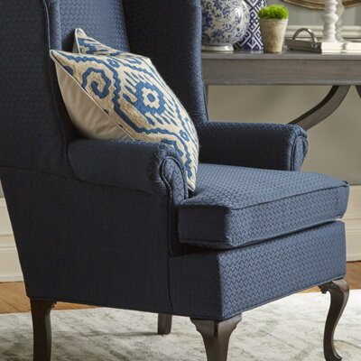 Palmdale Wingback Chair Upholstery: Navy
