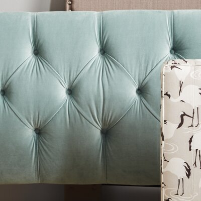 Plattekill Upholstered Panel Headboard Size: California King, Upholstery: Caribbean